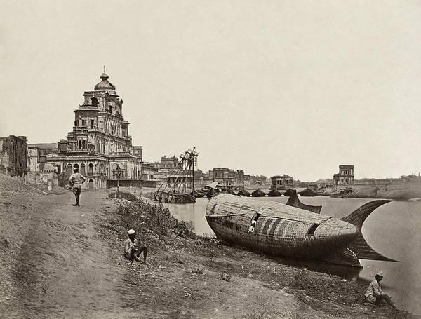 Wall Art - Photograph - India River Gomti, 1858 by Granger