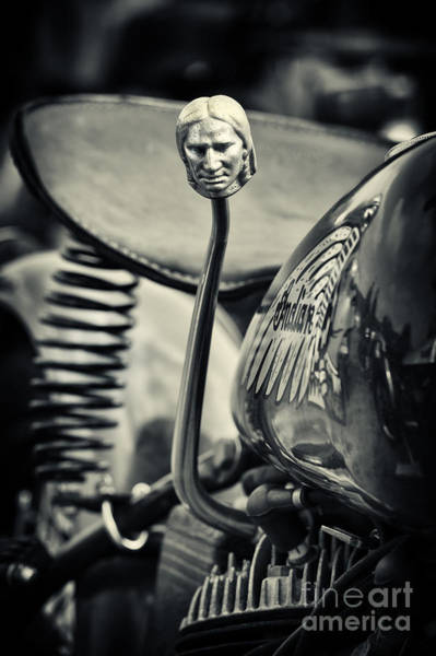 Wall Art - Photograph - Indian 500cc Scout Gear Shift  by Tim Gainey