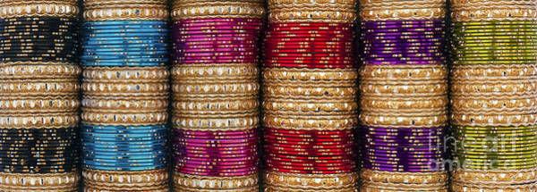 Photograph - Indian Bangles Panoramic by Tim Gainey