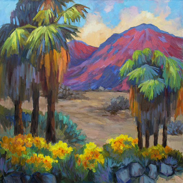 Wall Art - Painting - Indian Canyon In Spring by Diane McClary