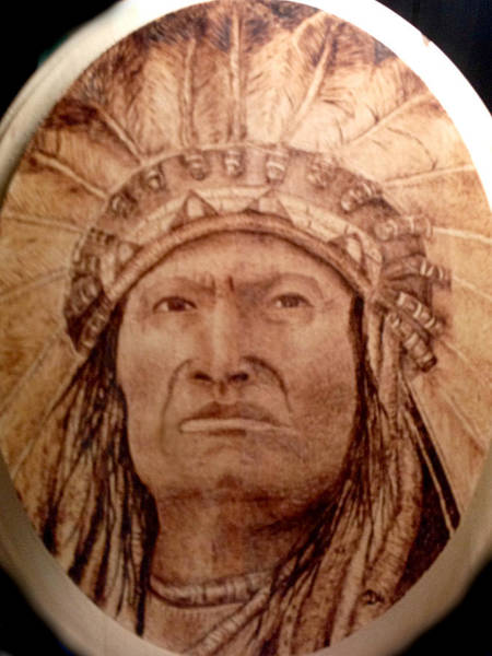 Dressed Up Mixed Media - Indian Chief by Dale Bradley