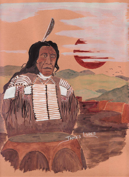 Wall Art - Painting - Indian Chief by James Lopez