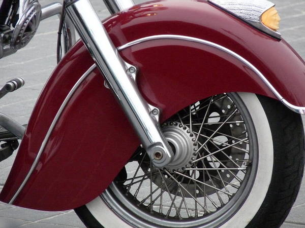 Photograph - Indian Chief Motorcycle by Jeff Lowe