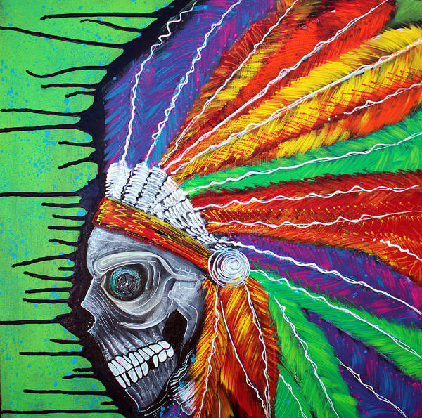 Native American Culture Painting - Indian Chief Spirit by Laura Barbosa