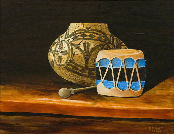 Painting - Indian Drum by Darice Machel McGuire