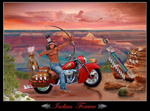 Horse Feathers Digital Art - Indian Forever by Glenn Holbrook