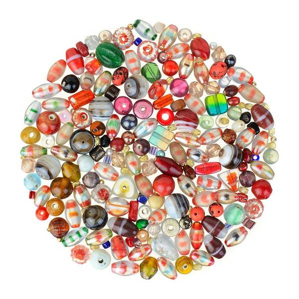 Beading Photograph - Indian Glass Beads by Jim Hughes