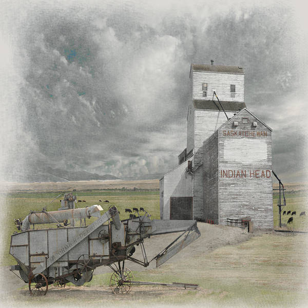 Grain Elevator Photograph - Indian Head Grain  by Jeff Burgess