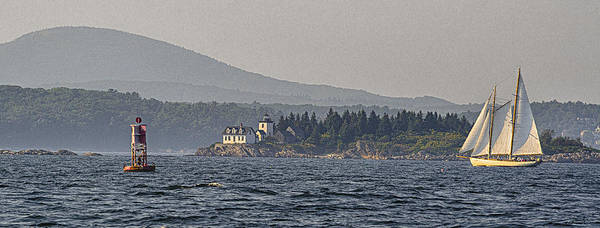 Wall Art - Photograph - Indian Island Lighthouse - Rockport - Maine by Marty Saccone