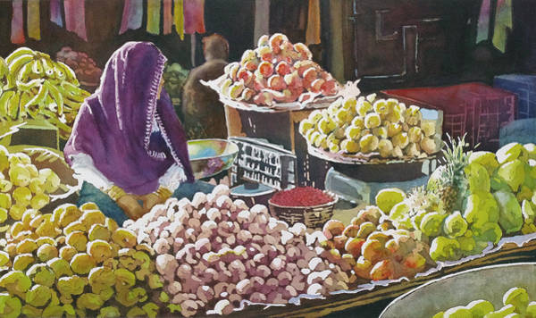 Painting - Indian Market by Greg and Linda Halom