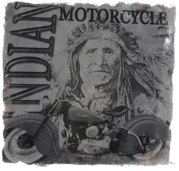 Wall Art - Photograph - Indian Motorcycle by Diane Wood