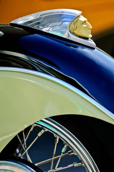 Photograph - Indian Motorcycle Fender Emblem by Jill Reger