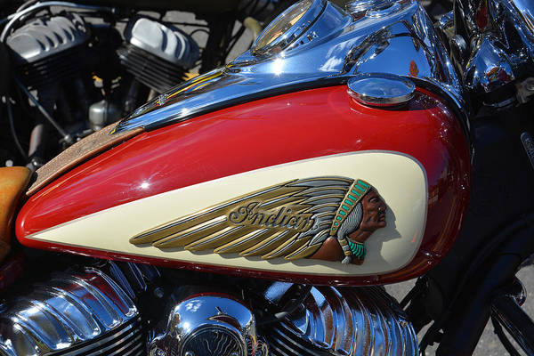 Wall Art - Photograph - Indian Motorcycle Gas Tank by Mike Martin