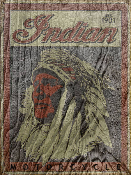 Indian Motorcycle Postertextured Art Print