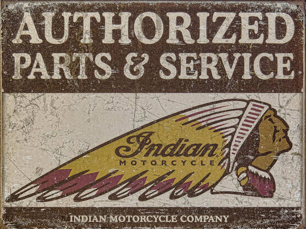 Indian Motorcycle Sign Art Print