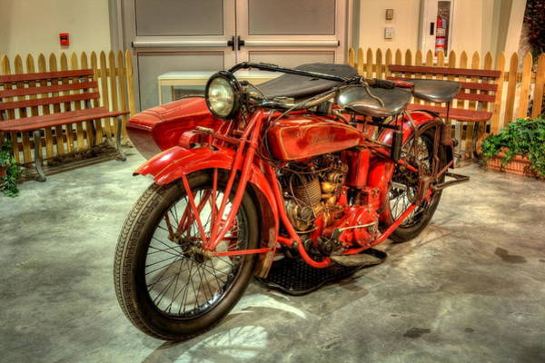 Indian Motorcycle With Sidecar Art Print