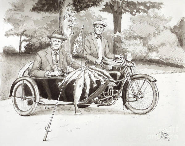 Painting - Indian Motorcylce Founders by Art By - Ti   Tolpo Bader