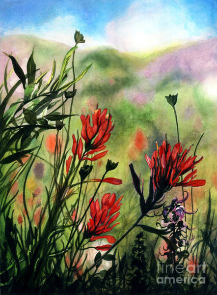 Wall Art - Painting - Indian Paint Brush by Barbara Jewell