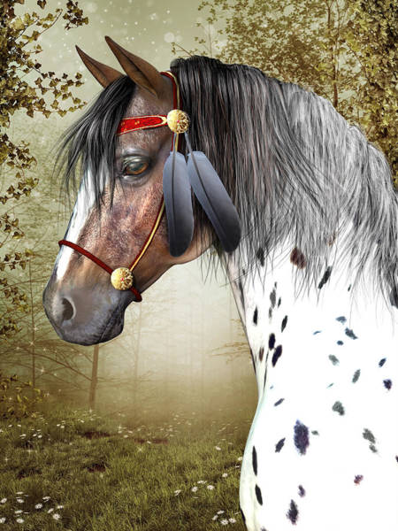 Horse Feathers Digital Art - The Indian Pony by Jayne Wilson