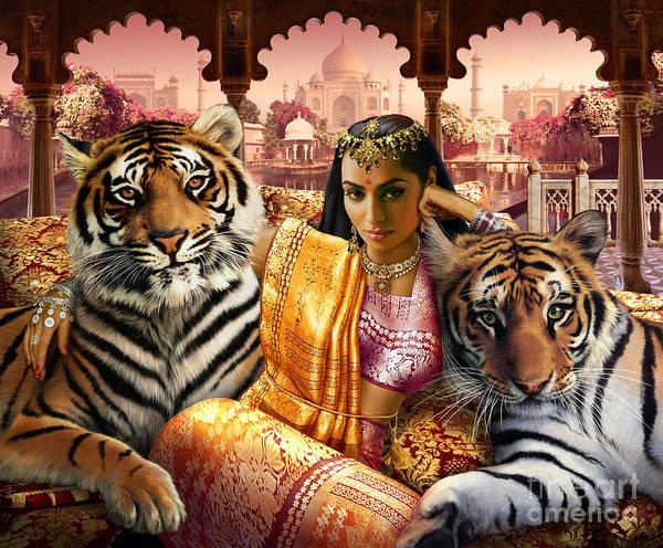 Andrew Farley Photograph - Indian Princess by MGL Meiklejohn Graphics Licensing