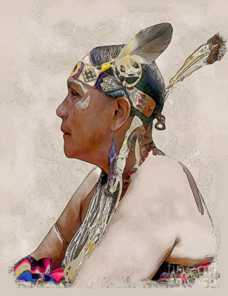 Powwow Wall Art - Photograph - Indian Princess by Linda  Parker