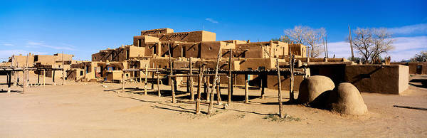 Abode Photograph - Indian Pueblo, Taos, New Mexico, Usa by Panoramic Images