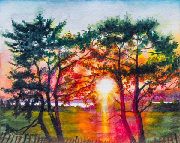Delaware State Park Wall Art - Painting - Indian River Sunset by Patricia Allingham Carlson