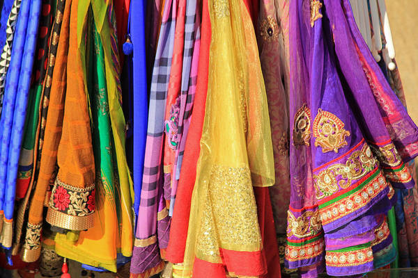 Photograph - Indian Sarees by E Faithe Lester
