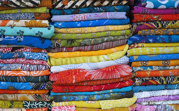 Blue Dress Photograph - Indian Sari Pattern by Tim Gainey