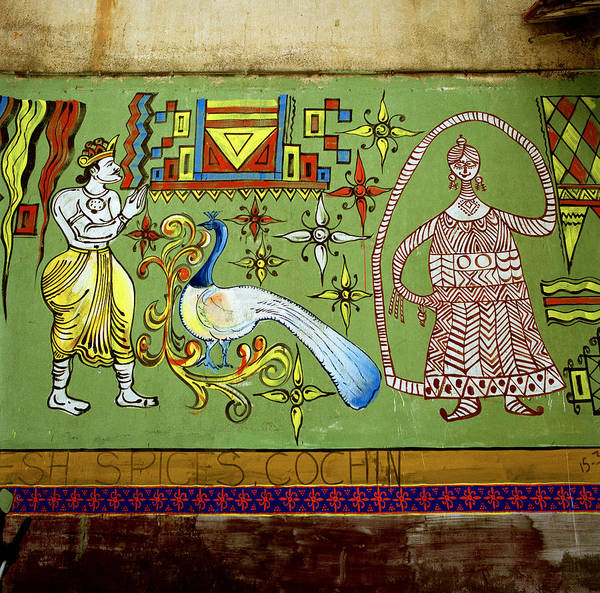 Kerala Mural Photograph - Symbolism Of The East by Shaun Higson