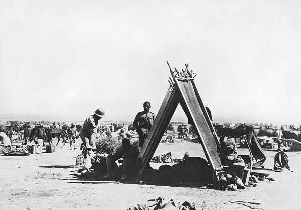 Photograph - Indian Troops In Mesopotamia by Underwood Archives