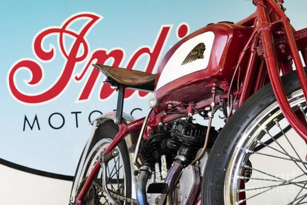 Photograph - Indian Wall Of Death Motorcycle  by Tim Gainey