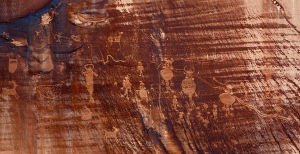 Indian Writing In Moab  Art Print