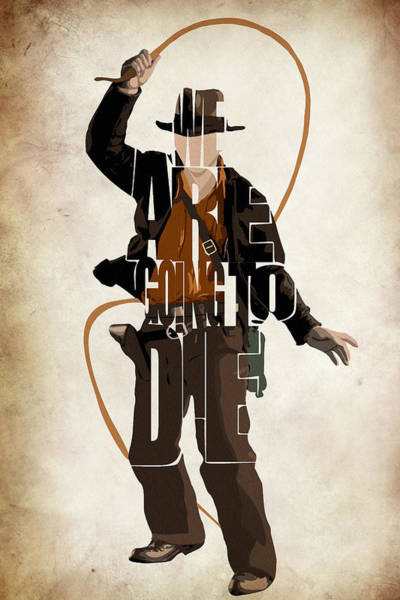 Wall Art - Digital Art - Indiana Jones Vol 2 - Harrison Ford by Inspirowl Design