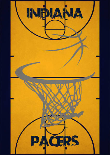 Roster Wall Art - Photograph - Indiana Pacers Court by Joe Hamilton