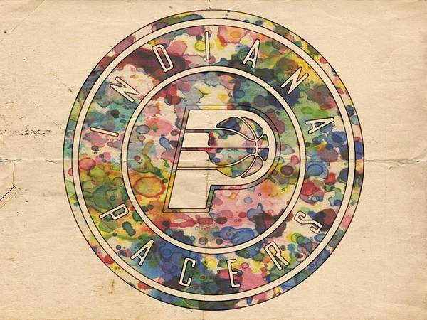 Slamdunk Painting - Indiana Pacers Logo Vintage by Florian Rodarte