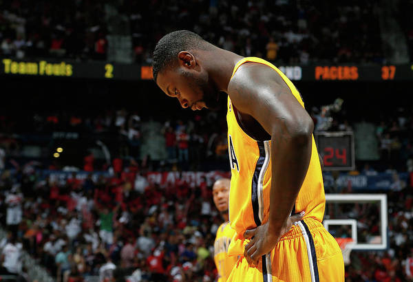 Photograph - Indiana Pacers V Atlanta Hawks - Game by Kevin C. Cox