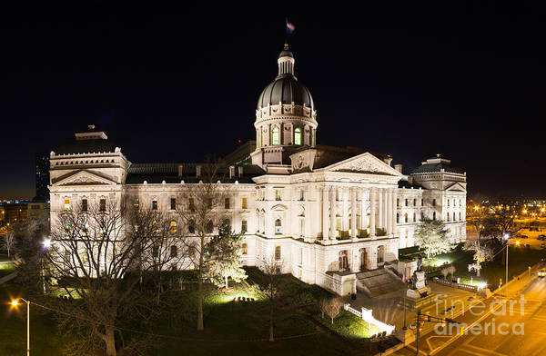 Indianapolis Photograph - Indiana State Capitol Building by Twenty Two North Photography
