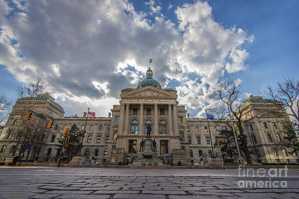 Photograph - Indiana State House Low by David Haskett II