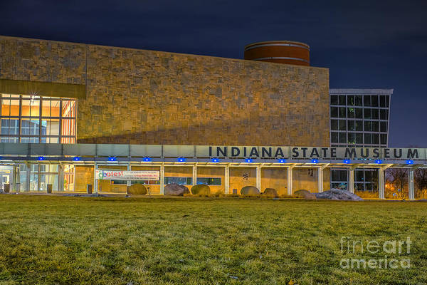 Photograph - Indiana State Museum Night Delta by David Haskett II