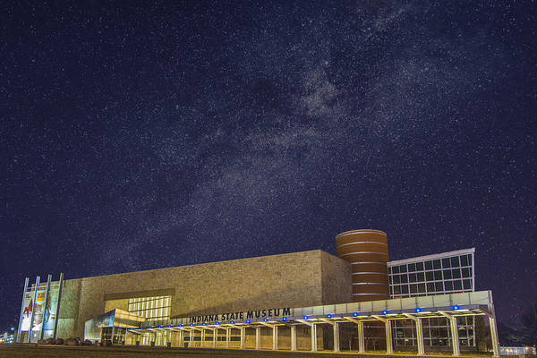 Photograph - Indiana State Museum Night Star Play by David Haskett II