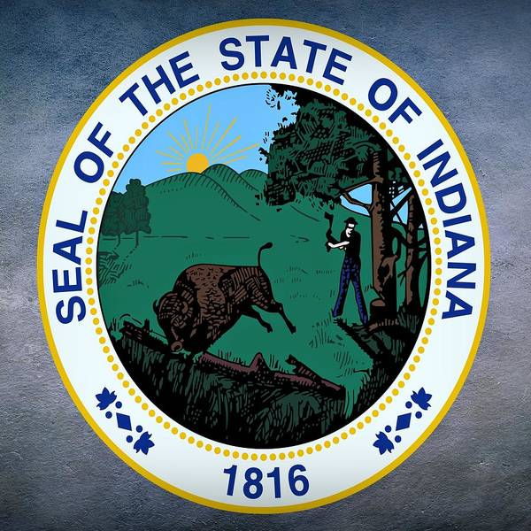 Digital Art - Indiana State Seal by Movie Poster Prints