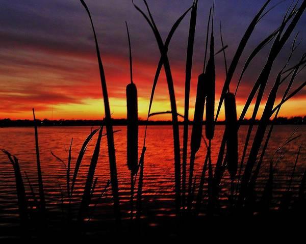 Winona Photograph - Indiana Sunset by Benjamin Yeager