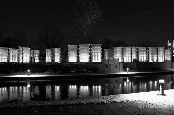 Photograph - Indiana War Memorial On The Canal by David Haskett II