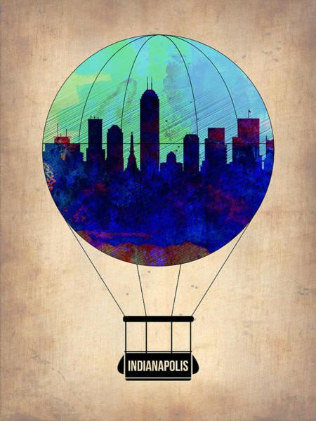 Tourist Painting - Indianapolis Air Balloon by Naxart Studio