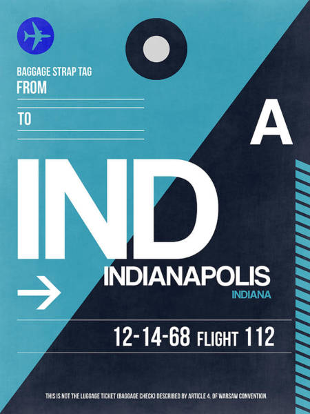 Travel Digital Art - Indianapolis Airport Poster 2 by Naxart Studio