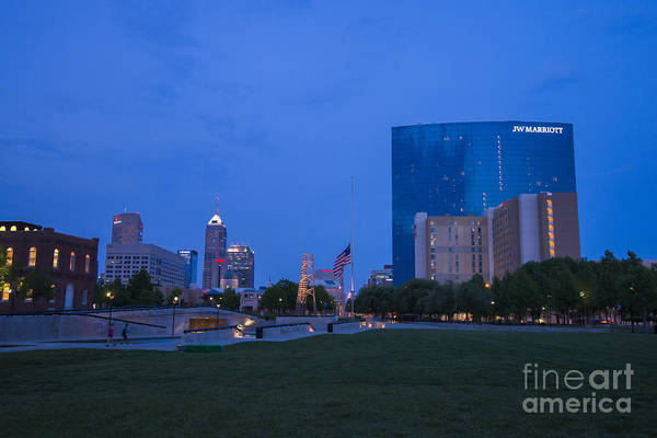 Photograph - Indianapolis Blue Hour Skyline by David Haskett II