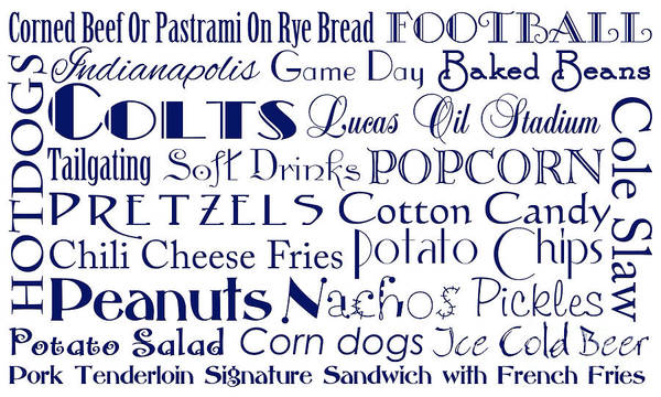 Digital Art - Indianapolis Colts Game Day Food 1 by Andee Design
