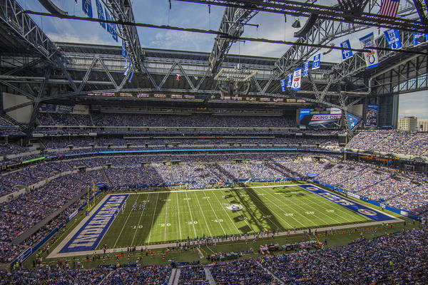 Photograph - Indianapolis Colts Lucas Oil Stadium 3172 by David Haskett II