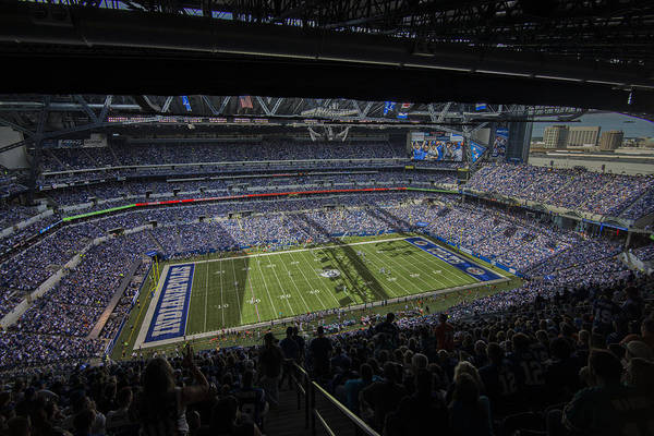 Photograph - Indianapolis Colts Lucas Oil Stadium 3178 by David Haskett II